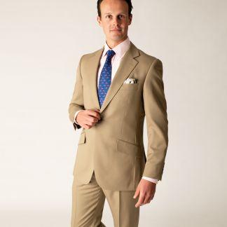 Cordings Khaki 8oz Single Button Gabardine Perry Suit Different Angle 1