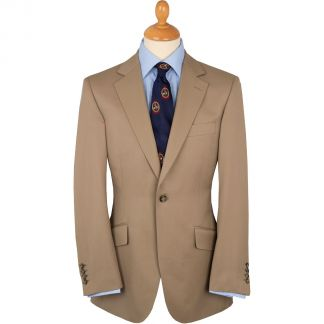 Cordings Khaki 8oz Single Button Gabardine Perry Suit Main Image