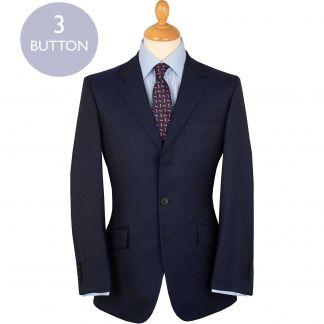 Cordings Navy 9oz Three Button Clarke Twill Suit Main Image