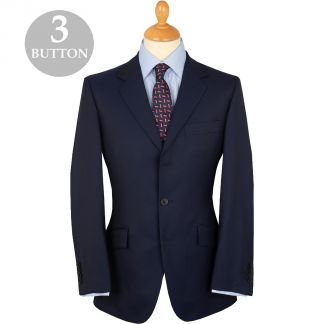 Cordings Navy 9oz Three Button Clarke Twill Suit Main Image