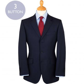 Cordings Navy 10oz Three Button Peter Check Suit Main Image