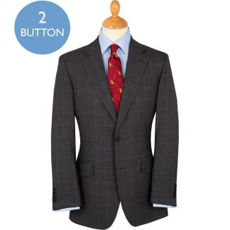 Cordings Grey 9oz Two Button Prince of Wales James Suit Main Image