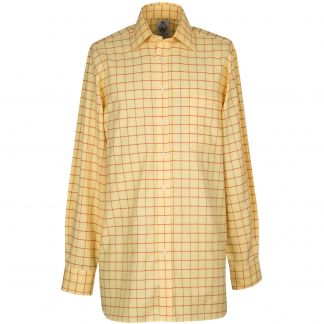 Cordings Yellow and Red Check Medium Tattersall Shirt Different Angle 1
