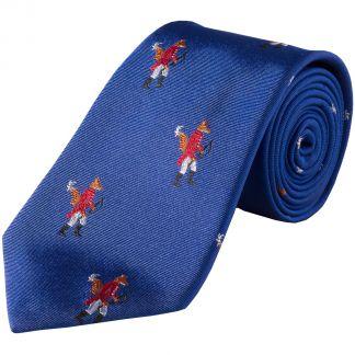 Cordings Royal Blue Hunting Fox Silk Tie Main Image