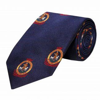 Cordings Navy Blue Cordings Crest Silk Tie Main Image
