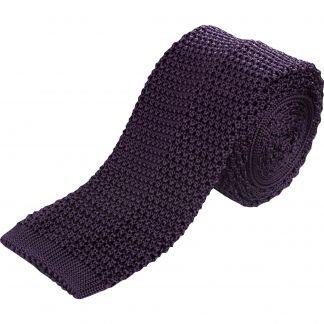 Cordings Purple Heavy Silk Knitted Tie  Main Image