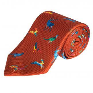 Cordings Copper Self Defence 36oz Silk Tie  Main Image