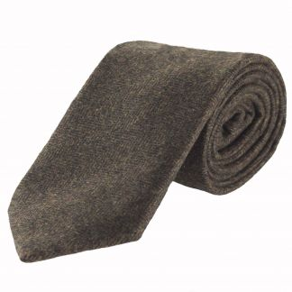 Cordings Chocolate Herringbone Cashmere Tie Main Image