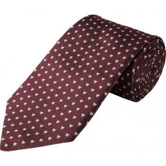 Cordings Wine Micro Fox Woven Silk Tie  Main Image