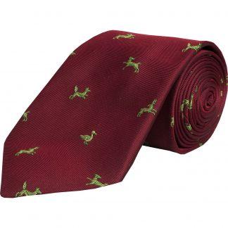 Cordings Wine Shooting School Silk Tie  Main Image