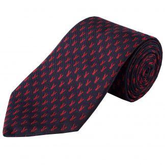 Cordings Navy Micro Hare Woven Silk Tie Main Image