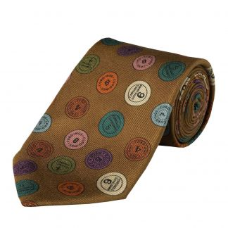 Cordings Chestnut 36oz Cartridge Cap Silk Tie Main Image