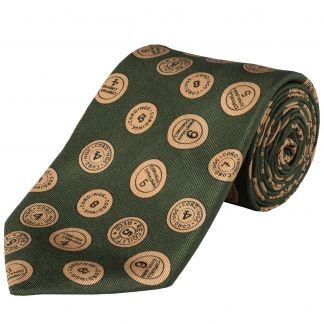 Cordings Green 36oz Cartridge Cap Silk Tie Main Image