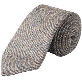 Cordings Blue Slate Country Tweed Wool Tie Main Image