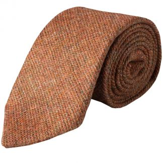 Cordings Rust Country Tweed Wool Tie Main Image