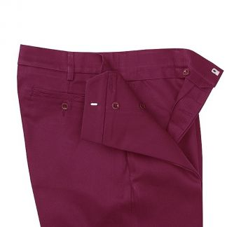 Cordings Burgundy Cotton Drill Trousers Different Angle 1