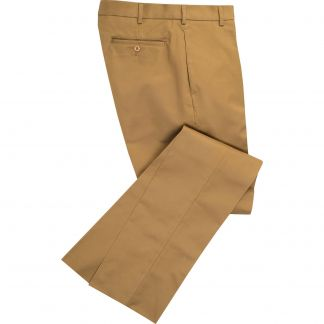 Cordings Khaki Cotton Drill Trousers Main Image