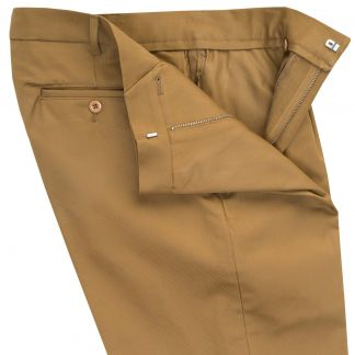 Cordings Khaki Cotton Drill Trousers Different Angle 1