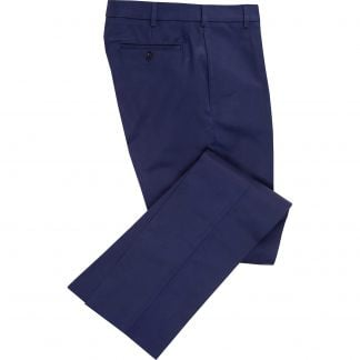Cordings Navy Cotton Drill Trousers Main Image