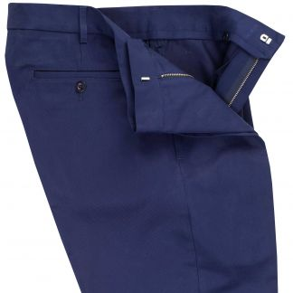 Cordings Navy Cotton Drill Trousers Different Angle 1