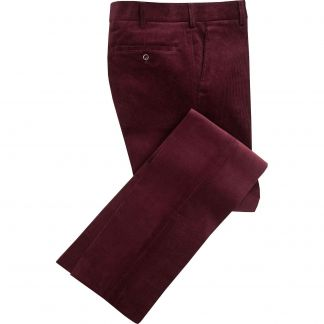 Cordings Plum Needlecord Trousers Main Image