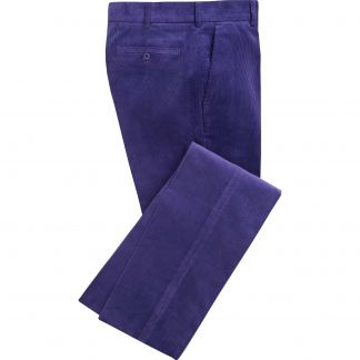 Cordings Purple Needlecord Trousers Main Image
