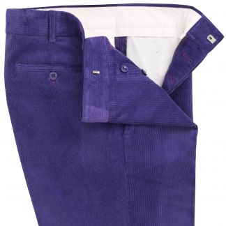 Cordings Purple Needlecord Trousers Different Angle 1