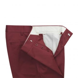 Cordings Garnet Red Flat Front Chino Trousers Different Angle 1