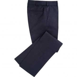 Cordings Midnight Flat Front Chino Trousers Main Image