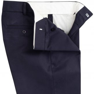 Cordings Midnight Flat Front Chino Trousers Different Angle 1