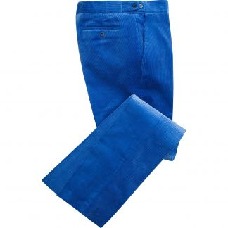 Cordings Royal Blue Corduroy Trousers Main Image