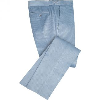 Cordings Sky Blue Corduroy Trousers Main Image