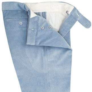 Cordings Sky Blue Corduroy Trousers Different Angle 1
