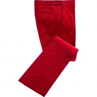 Cordings Bordeaux Corduroy Trousers Main Image