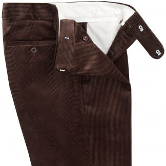 Cordings Brown Corduroy Trousers Different Angle 1