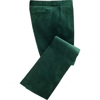 Cordings Bottle Green Corduroy Trousers Main Image