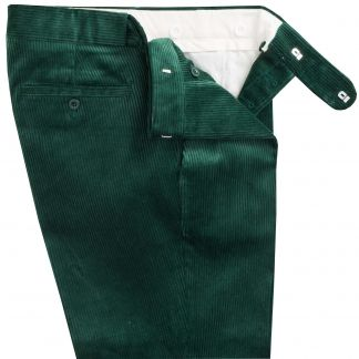 Cordings Bottle Green Corduroy Trousers Different Angle 1