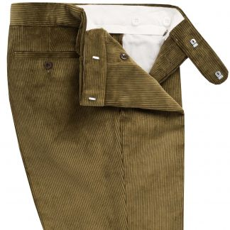 Cordings Moss Green Corduroy Trousers Different Angle 1