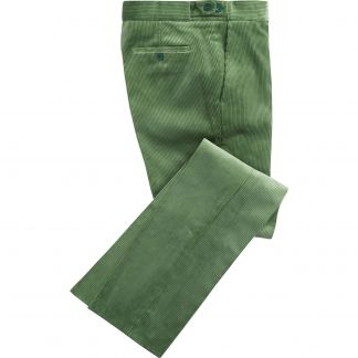 Cordings Sage Green Corduroy Trousers Main Image