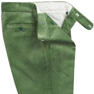 Cordings Sage Green Corduroy Trousers Different Angle 1