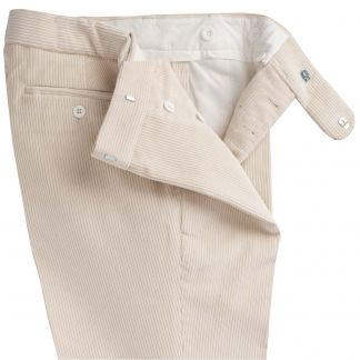 Cordings Ivory Corduroy Trouser Different Angle 1