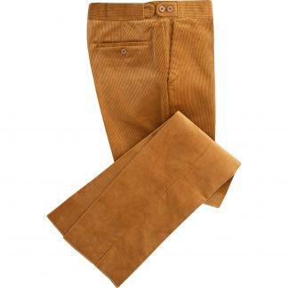 Cordings London Tan Corduroy Trousers Main Image