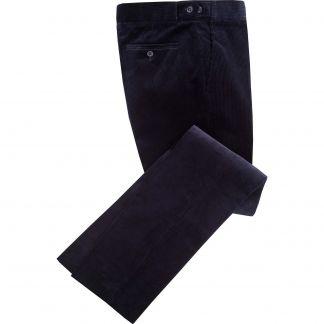 Cordings Navy Blue Corduroy Trousers Main Image