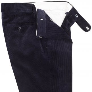 Cordings Navy Blue Corduroy Trousers Different Angle 1