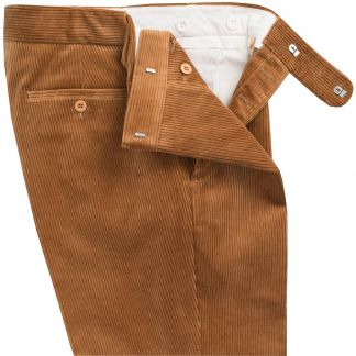 Cordings Tan Corduroy Trousers Different Angle 1