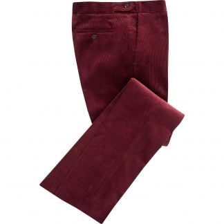 Cordings Wine Corduroy Trousers Main Image