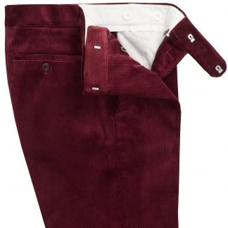 Cordings Wine Corduroy Trousers Different Angle 1