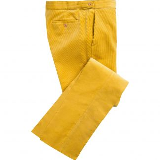 Cordings Yellow Corduroy Trousers Main Image