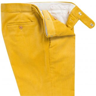 Cordings Yellow Corduroy Trousers Different Angle 1
