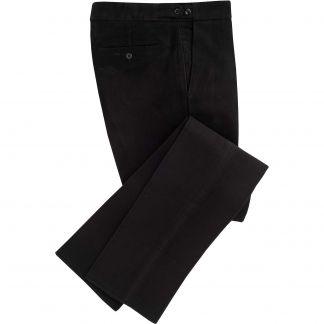 Cordings Black Moleskin Men's Trousers Main Image